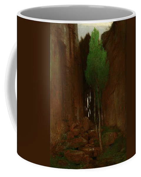 Painting Coffee Mug featuring the painting Spring In A Narrow Gorge by Mountain Dreams