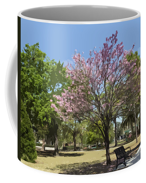 Tree Coffee Mug featuring the painting Spring In Winter Park by Allan Hughes