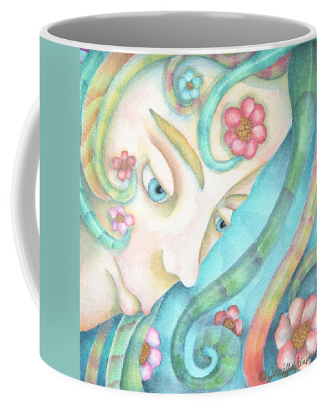Sprite Coffee Mug featuring the painting Sprite Of Kind Thoughts by Jeniffer Stapher-Thomas