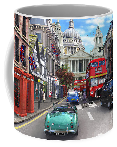 London Coffee Mug featuring the digital art St Paul's Cathedral by Dominic Davison