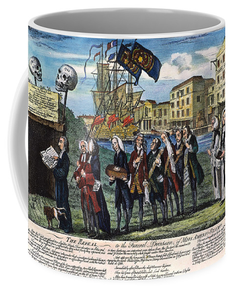 1766 Coffee Mug featuring the photograph Stamp Act: Repeal, 1766 by Granger
