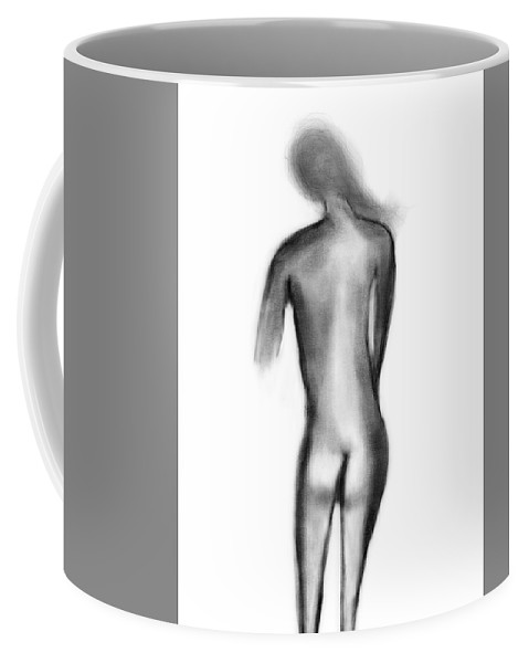 Apple Pencil Drawing Coffee Mug featuring the drawing Standing Nude 04 by Bill Owen