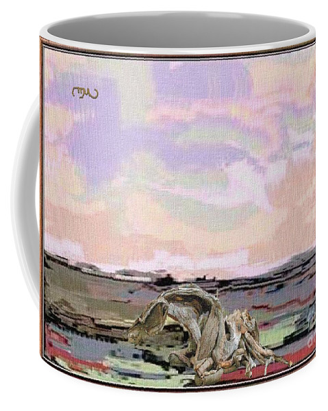 Modern Painting Coffee Mug featuring the mixed media Statue Of A Horse From Branches by Pemaro