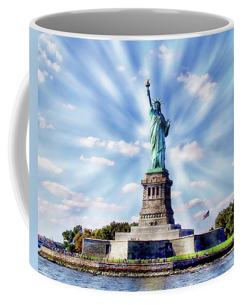 Symbol Coffee Mug featuring the photograph Statue Of Liberty by Anthony Dezenzio