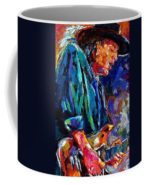 Stevie Ray Vaughan Coffee Mug featuring the painting Stevie Ray Vaughan by Debra Hurd