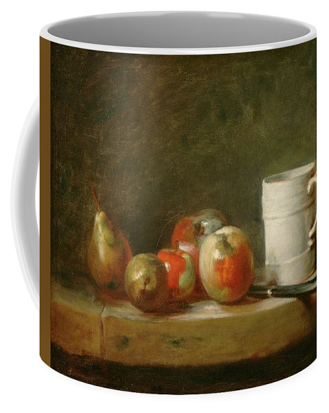 Still Life Coffee Mug featuring the painting Still Life With A White Mug by Jean Simeon Chardin