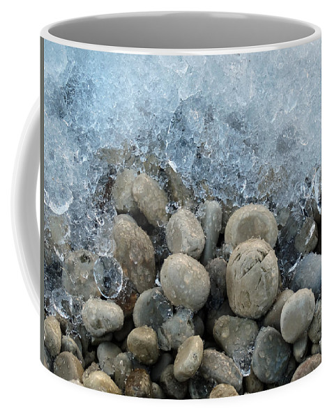 Cold Coffee Mug featuring the photograph Stones And Ice by David T Wilkinson