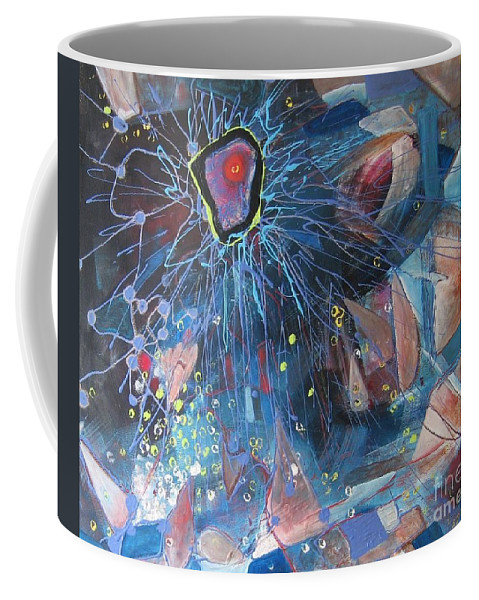 Abstract Paintings Coffee Mug featuring the painting Storm At Sea by Seon-Jeong Kim