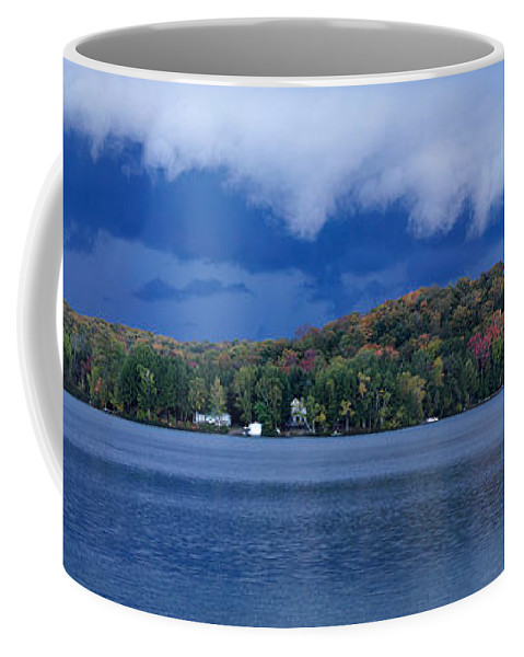 Lake Coffee Mug featuring the photograph Storm Clouds Over The Lake Of Bays by Oleksiy Maksymenko
