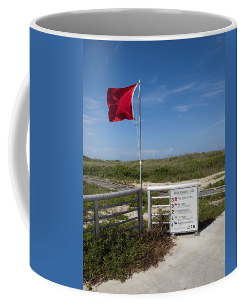 Storm Coffee Mug featuring the photograph Storm Warning On The Atlantic Ocean In Florida by Allan Hughes