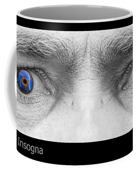 Eyes Coffee Mug featuring the photograph Stormy Angry Eyes by James BO Insogna