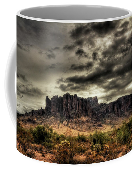 Arizona Coffee Mug featuring the photograph Stormy Morning by Saija Lehtonen