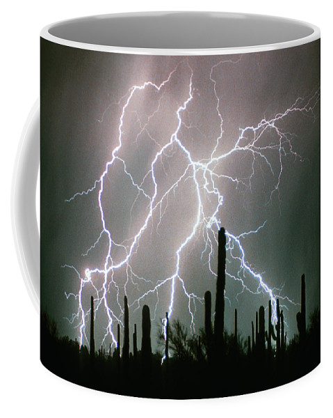 Lightning Coffee Mug featuring the photograph Striking Photography by James BO Insogna
