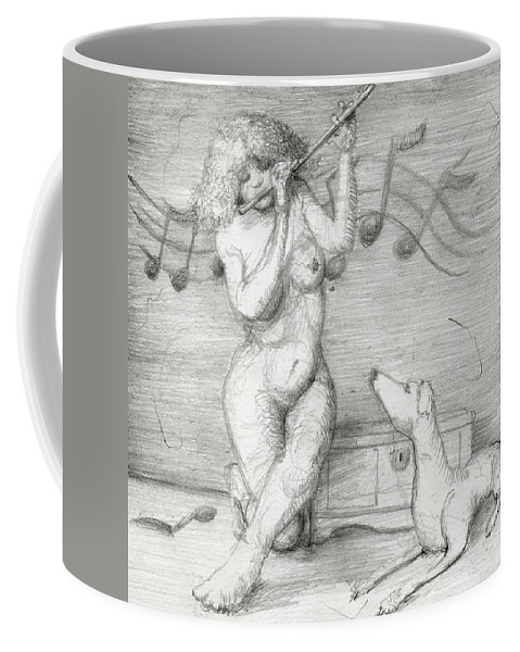 Dirt Coffee Mug featuring the drawing Study For Anna by Dirt On Paper