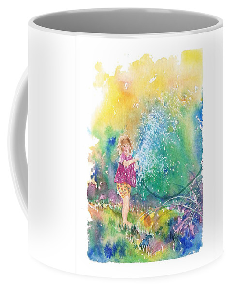 Children Coffee Mug featuring the painting Summer Fun by Gale Cochran-Smith