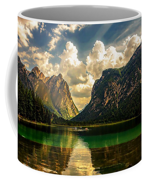 Summer Coffee Mug featuring the photograph Summer Lake by Dawn Van Doorn