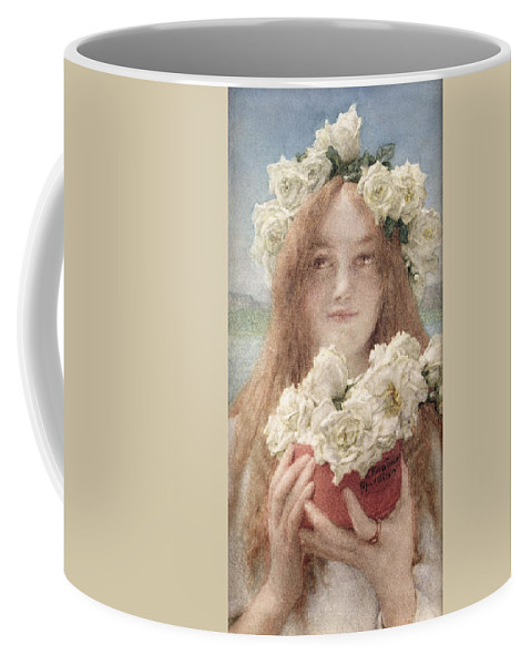 Soft Coffee Mug featuring the painting Summer Offering by Sir Lawrence Alma-Tadema