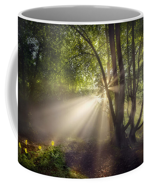 Sunbeam Coffee Mug featuring the digital art Sunbeam by Zia Low