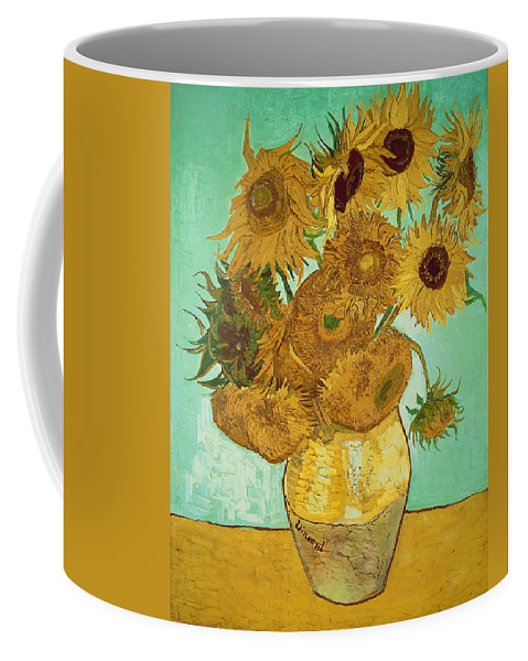 Sunflowers Coffee Mug featuring the painting Sunflowers by Van Gogh by Vincent Van Gogh