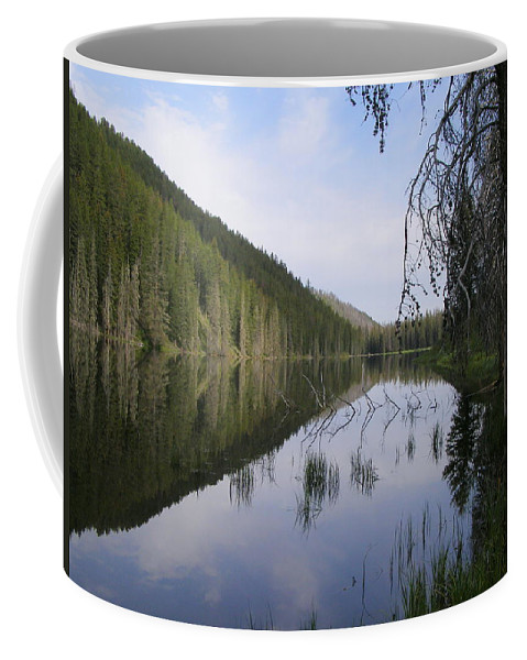 Lake Coffee Mug featuring the photograph Sunrise At Bailey's by DeeLon Merritt
