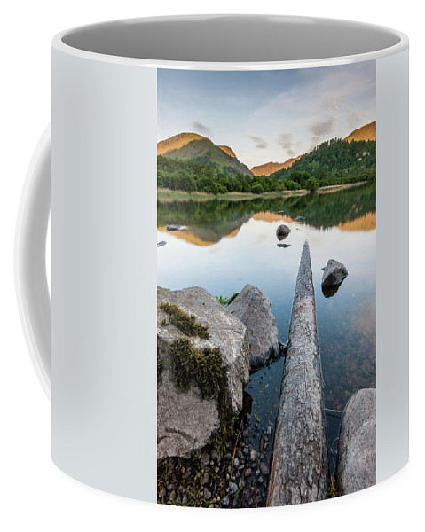 Landscape Coffee Mug featuring the photograph Sunrise at Ullswater, Lake District, North West England by Anthony Lawlor