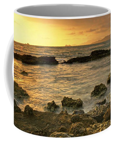 Oahu Coffee Mug featuring the photograph Sunrise Kaneohe by Michael Peychich