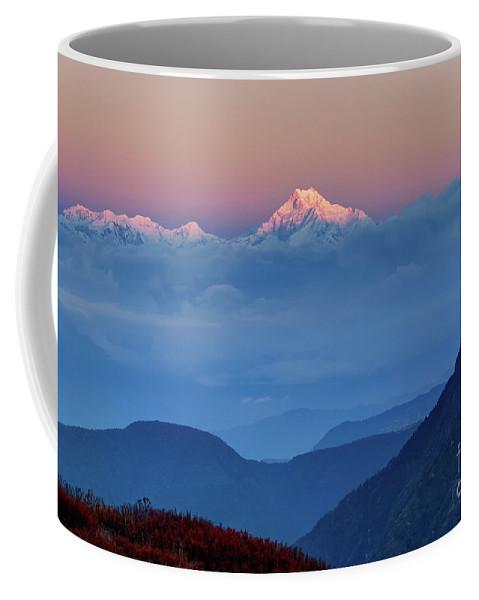 Alpine Coffee Mug featuring the photograph Sunrise On Mount Kanchenjugha At Dawn Sikkim by Rudra Narayan Mitra