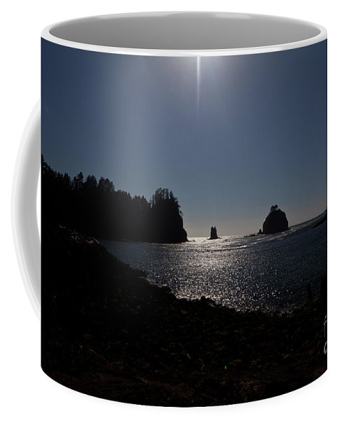 Reflection Coffee Mug featuring the photograph Sunset by Avril Christophe