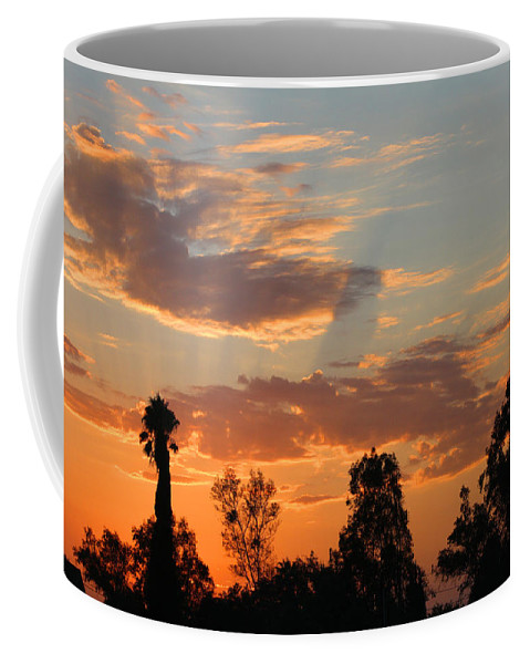 Sunset. Moreno Valley Coffee Mug featuring the photograph Sunset Moreno Valley Ca by Tommy Anderson