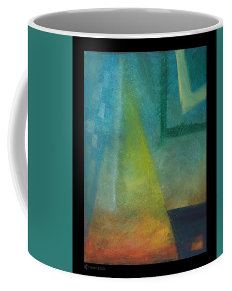 Sunset Coffee Mug featuring the painting Sunset Sail by Tim Nyberg