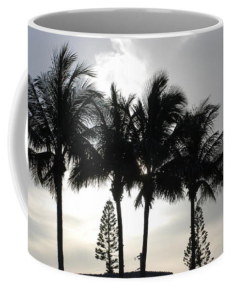 Sky Coffee Mug featuring the photograph Sunset Thru The Trees by Rob Hans