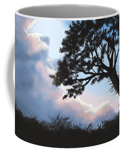 Sunset Coffee Mug featuring the painting Sunset by Veronica Minozzi
