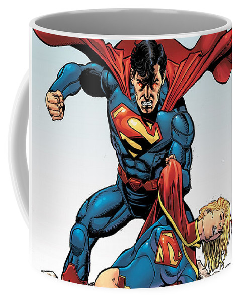 Superman Coffee Mug featuring the digital art Superman by Zia Low