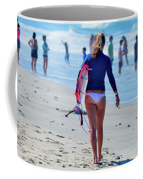 Surf Coffee Mug featuring the photograph Surfing by Nick Zadeh