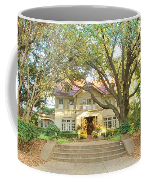 Swiss Avenue Homes Coffee Mug featuring the photograph Swiss Avenue Historic Mansion Dallas Texas by Donna Wilson