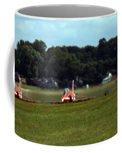 Red Arrows Coffee Mug featuring the photograph Take-off by Angel Tarantella
