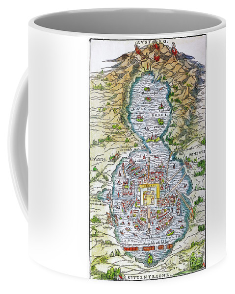 1556 Coffee Mug featuring the photograph Tenochtitlan (mexico City) by Granger