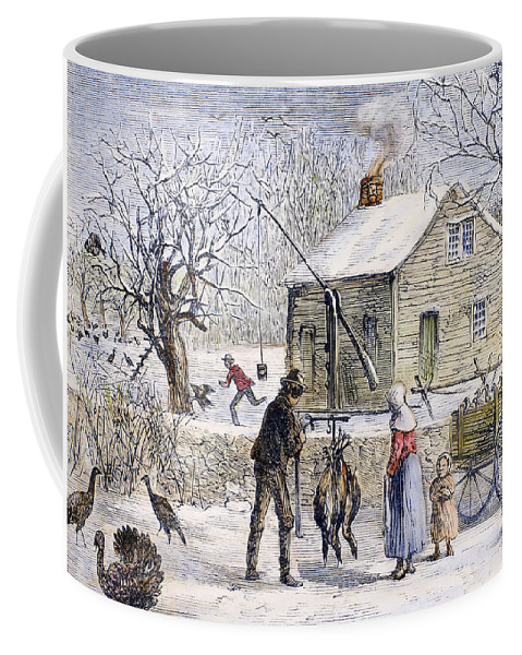 1882 Coffee Mug featuring the photograph Thanksgiving, 1882 by Granger