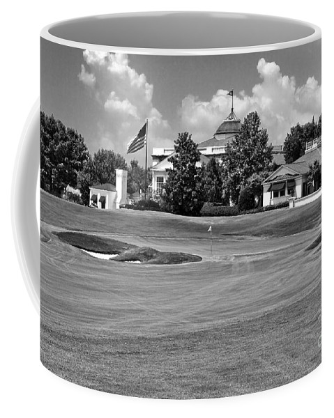 Golf Course Coffee Mug featuring the photograph The Approach by Scott Pellegrin