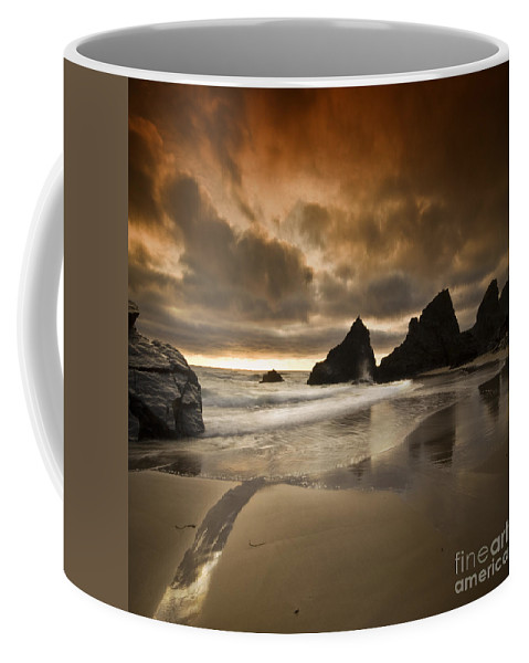Cornwall Coffee Mug featuring the photograph The Bedruthan Steps by Angel Ciesniarska