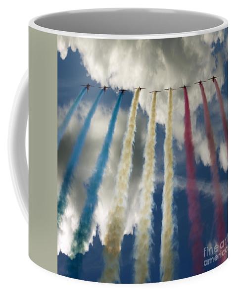 Red Arrows Coffee Mug featuring the photograph The Big 9 by Angel Ciesniarska