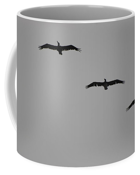 Black And White Coffee Mug featuring the photograph The Birds by Rob Hans
