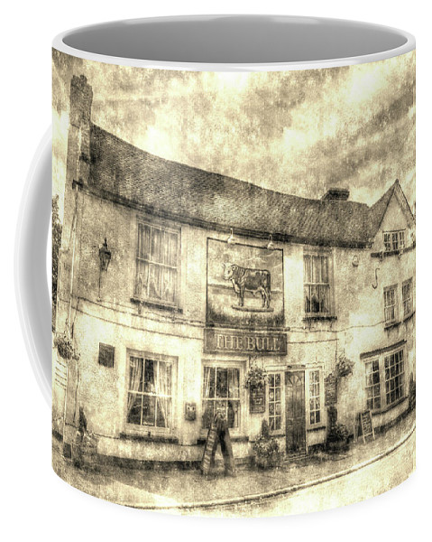 The Bull Pub Coffee Mug featuring the photograph The Bull Pub Theydon Bois Vintage by David Pyatt