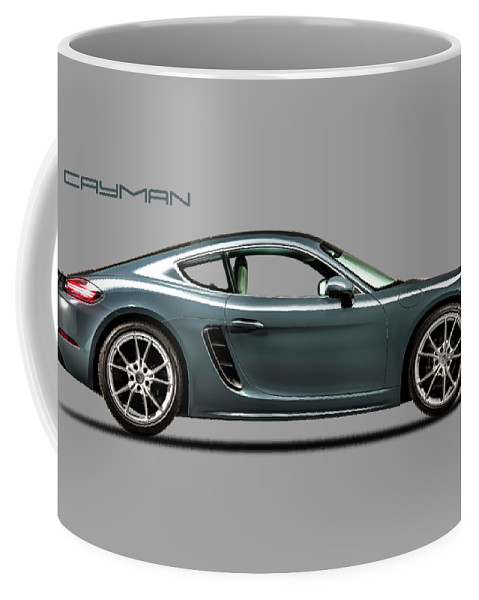 Porsche Cayman Coffee Mug featuring the photograph The Cayman 1 by Mark Rogan