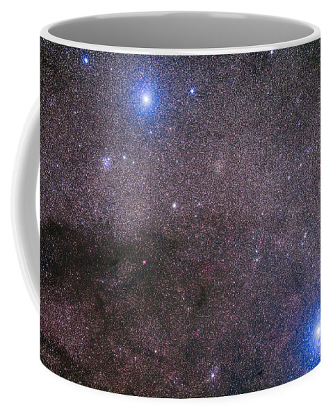 Acrux Coffee Mug featuring the photograph The Coalsack And Jewel Box Cluster by Alan Dyer