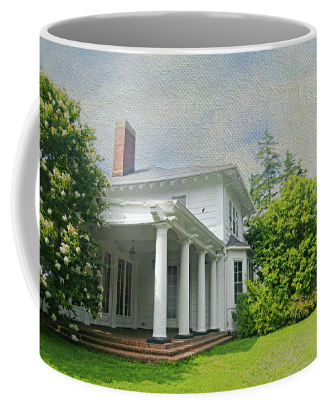 Crawford Park Rye Brook New York Coffee Mug featuring the photograph The Crawford Park Mansion by Diana Angstadt