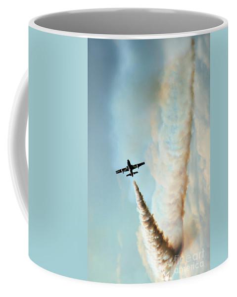 Frecce Tricolori Coffee Mug featuring the photograph The Crazy Flight by Angel Ciesniarska