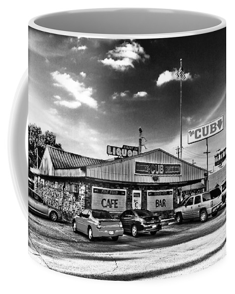 Black & White Coffee Mug featuring the photograph The Cub - Surreal Bw by Scott Pellegrin