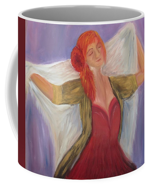 Dance Coffee Mug featuring the painting The Dancer by Taly Bar