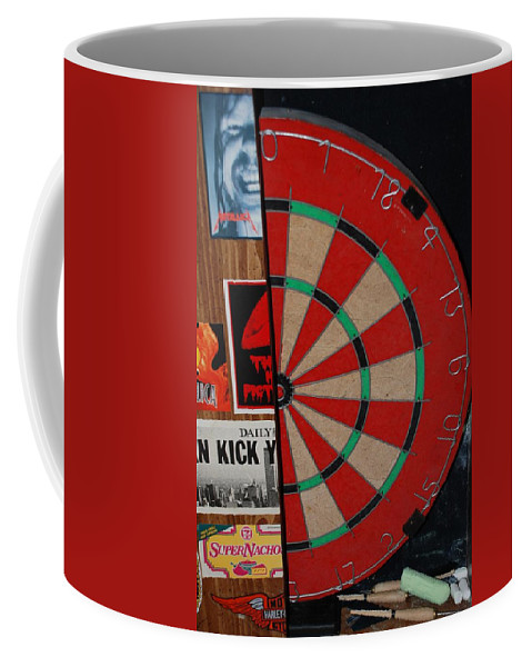 Macro Coffee Mug featuring the photograph The Dart Board by Rob Hans